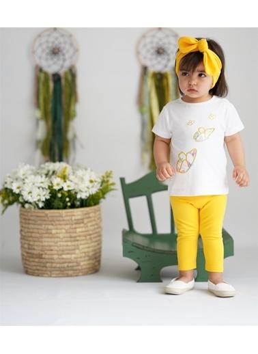 Nila Kids Hello Sunshine Organik Kız Bebek Tayt Sarı